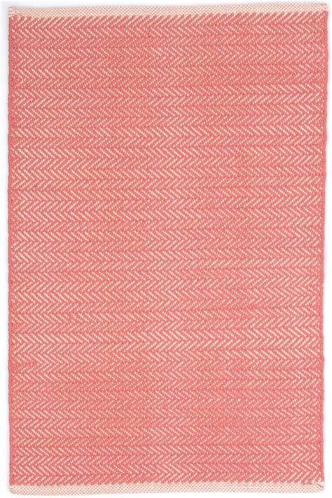 coral area rugs dash and albert dash and albert herringbone geometric coral area rug 125498