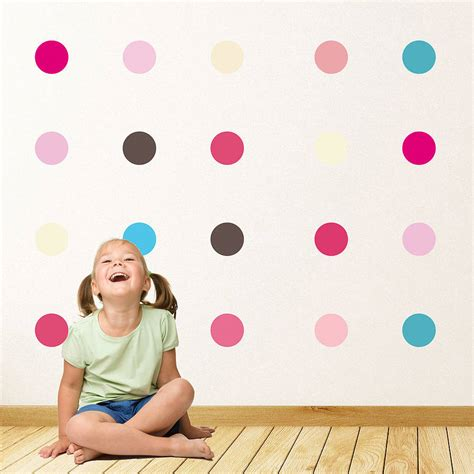 spotty wall stickers childrens spots wall stickers by parkins interiors