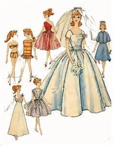 young bridesmaid dress pattern vintage doll clothes pattern 4510 for 11 1 2 in barbie