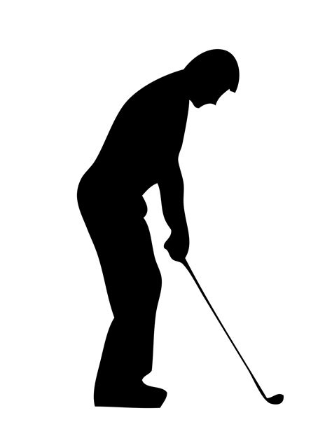 free silhouette images golf silhouette clipart clipart suggest