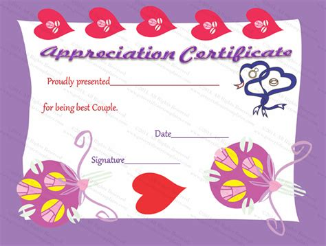 best friend certificate templates best friend certificate of appreciation template