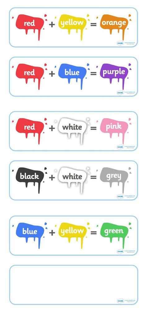 1000 Images About Education Ideas - mixing colors worksheets for preschoolers 1000 images