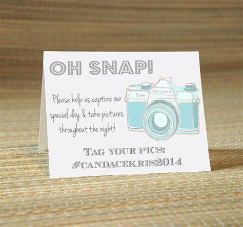 Instagram Facebook Twitter My Wedding Hashtag Cards
