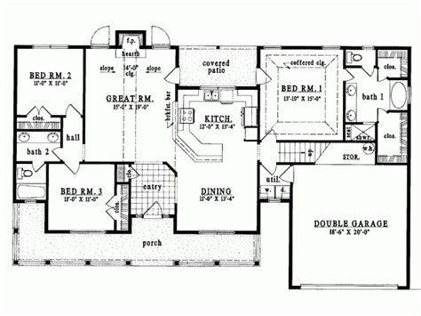 Eplans Country House Plan Single Level Living 1627 Single Level House Plans