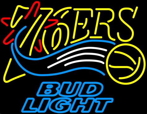 nba bud light cans nba bud light philadelphia 76ers neon sign neon