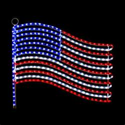 american flag lights led usa flag rope light motif silhouette window display