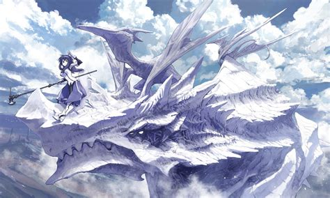 anime dragon girl wallpaper white dragon anime girls wallpapers theanimegallery com