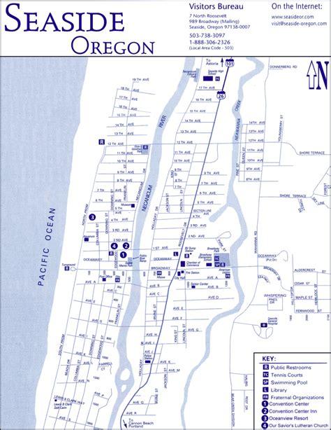 seaside oregon map sea pac map directions
