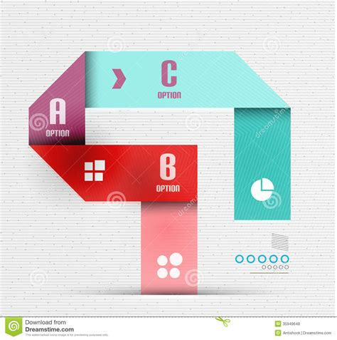 presentation and layout devices stripes option infographic design template royalty free