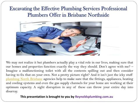 Northside Plumbing by Ppt Excavating The Effective Plumbing Services