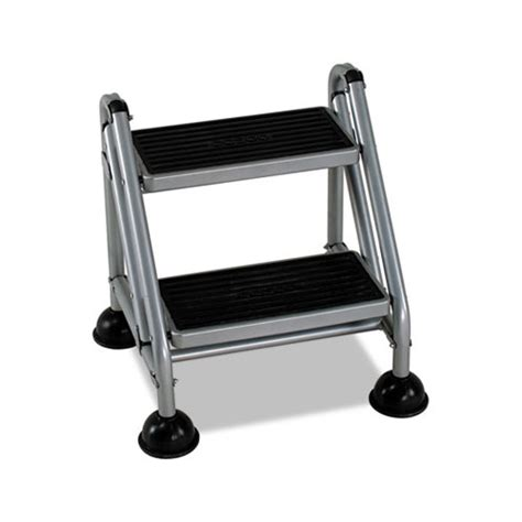 Cosco Rolling Commercial Step Stool by Cosco Rolling Commercial Step Stool Csc11824ggb1