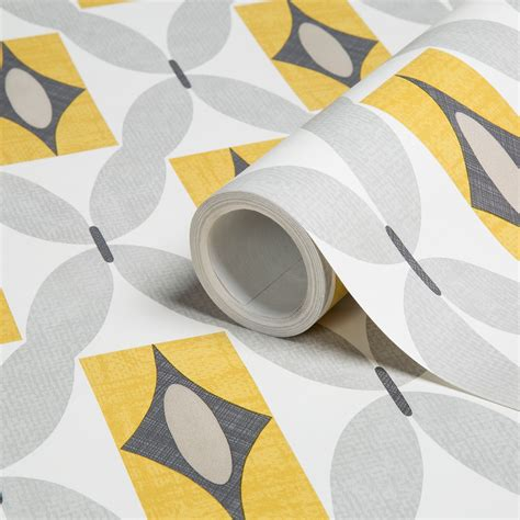 grey yellow wallpaper uk colours orsino yellow geometric wallpaper clearance