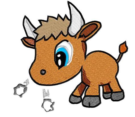 baby bull embroidery design annthegran