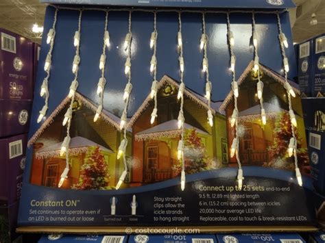 do icicle christmas lights use much power ge energy smart 100 led icicle lights