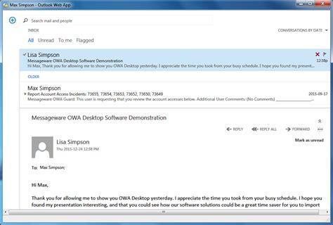 Office 365 Mail Desktop Notifications Owa Desktop Integrations Messageware