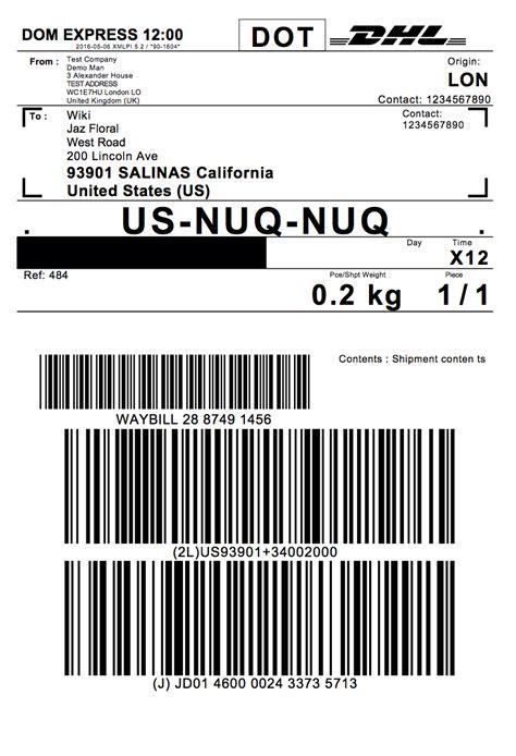 label design rates woocommerce dhl express ecommerce paket shipping