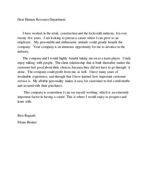 cover letter dear of human resources dear human resource department