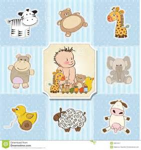 baby boy template shower card royalty free stock