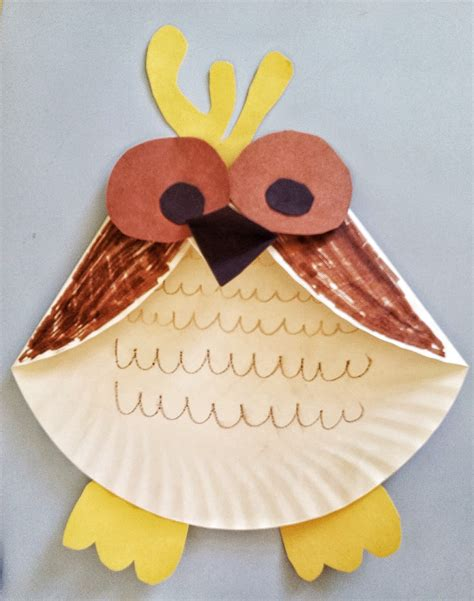 Paper Plate Craft For - activities for paper plate owl craft mommysavers