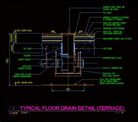 floor plan detail drawing drain floor detail in autocad drawing bibliocad