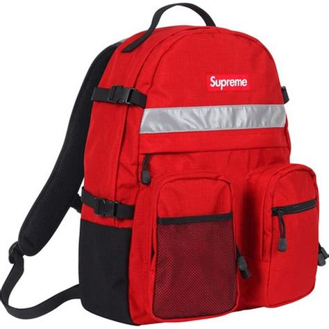 supreme backpack supreme hi vis backpack box logo c kate moss comme