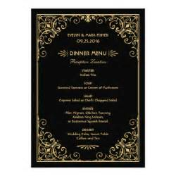 wedding dinner menu cards deco style 5 quot x 7 quot invitation card zazzle