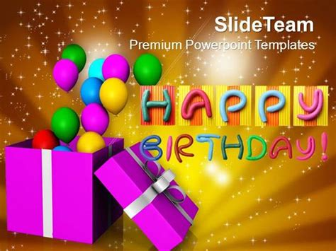 powerpoint 2010 birthday themes opened gift box with balloons birthday powerpoint