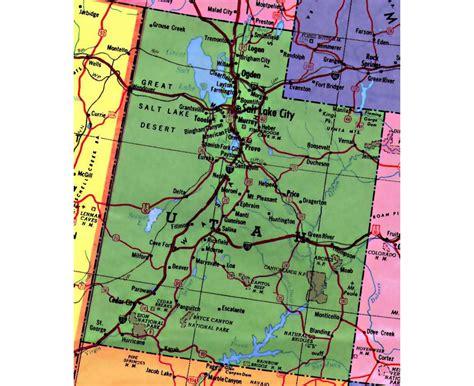 road map of utah maps of utah state collection of detailed maps of utah