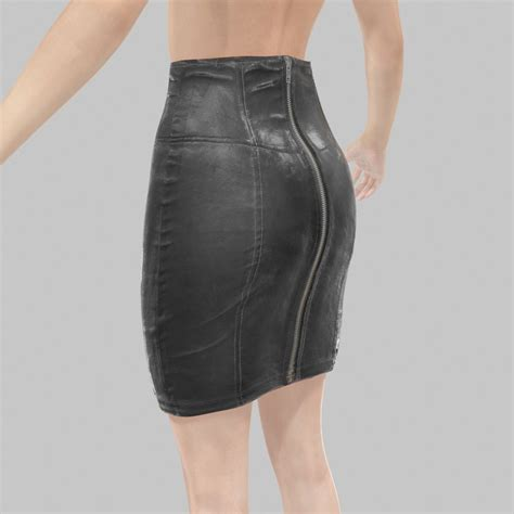 Pencil Skirt Hq obj leather skirt pencil