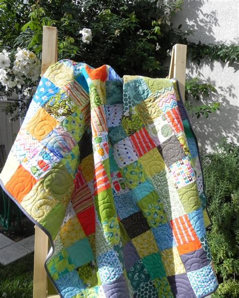 Basic Patchwork Quilt - simple patchwork quilt by janprytz on etsy