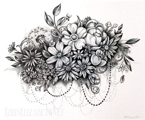 flower collage tattoo flower collage dot work source unknown tattoos i want