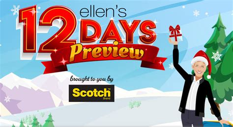 ellen 12 days of christmas 2018 gifts s 12 days of preview giveaway sweetiessweeps