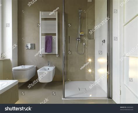 bath with shower cubicle modern bathroom with shower cubicle stock photo 83695465