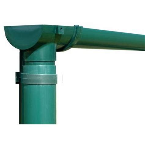 rion 8 ft greenhouse gutter kit with spout