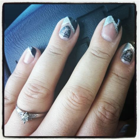 Oakland Raiders Nail Designs oakland raiders nail design my raiders