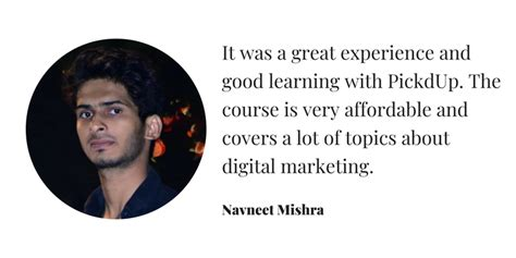 Digital Marketing Course Review - pickdup digital marketing course review by navneet mishra