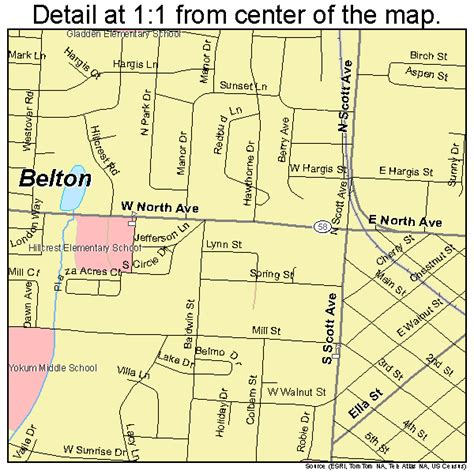 map of belton texas belton missouri map 2904384