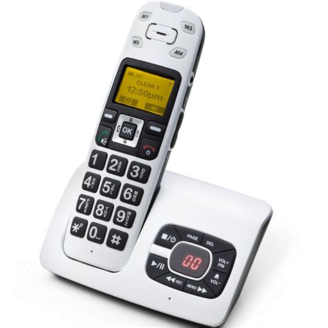 clearsounds cs a500 dect 6 0 expandable lified cordless phones system with talking caller id