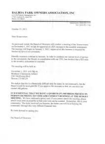Closing Letter From Hoa Hoa Dues Letter Sle Like Success