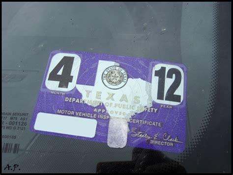Inspection Sticker Houston