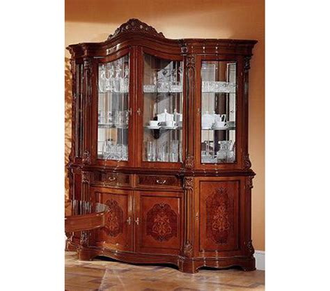 Walnut China Cabinet dreamfurniture traditional walnut 4 door china cabinet
