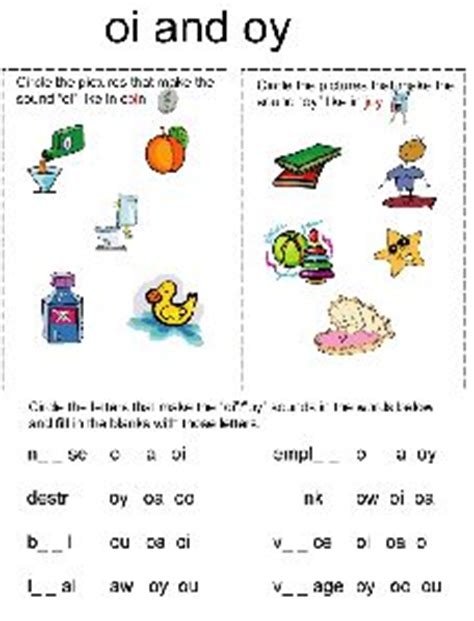 oi pattern words school kids oi oy diphthong word sort phonics literacy