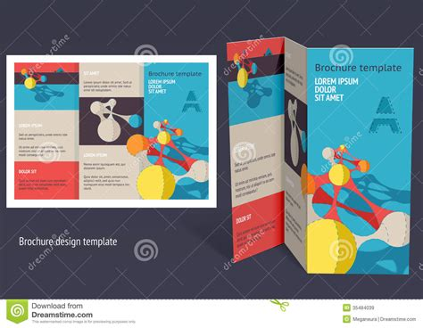 brochure booklet z fold layout editable design template