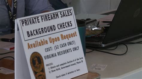 Va State Background Check 3 Sale Background Checks Conducted At Gun Show Wtvr