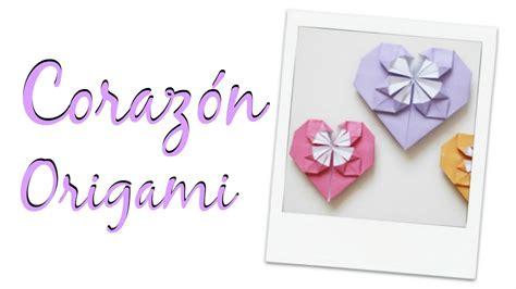 tutorial origami corazon tutorial origami coraz 243 n con flor central f 193 cil mundo