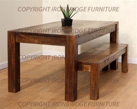 rustic dining table and bench rustic dining tables with benches roselawnlutheran