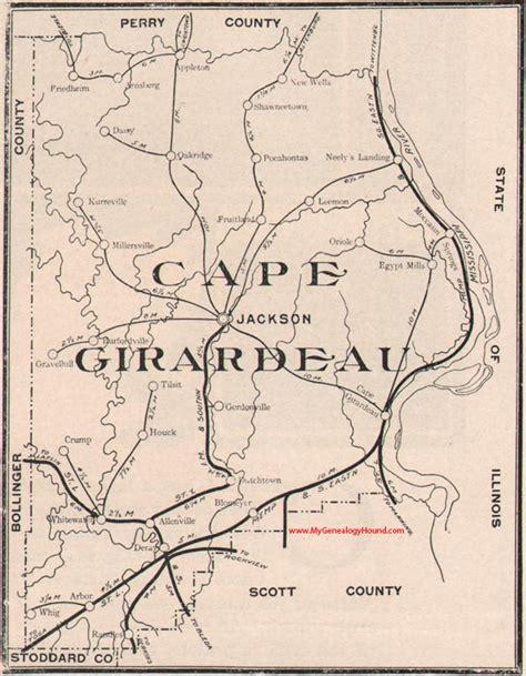 missouri map cape girardeau cape girardeau county missouri 1904 map
