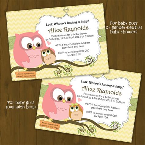 printable owl themed baby shower invitations owl baby shower invitation mommy and baby owl