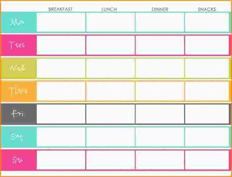 daily meal planner template 10 daily meal plan template paradochart