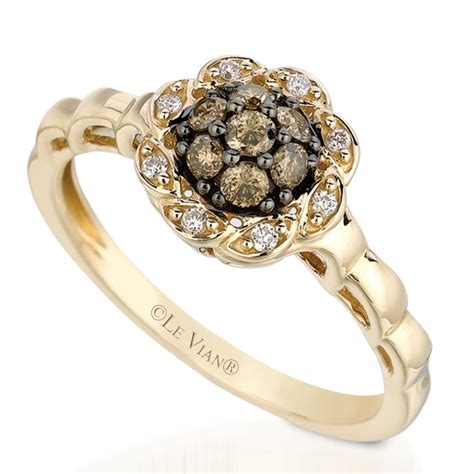 le vian 31ctw chocolate and vanilla ring in 14k